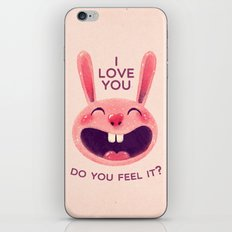 Bunny with love iPhone & iPod Skin
