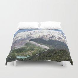 Mount Rainier on the Sunrise Side Duvet Cover