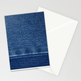 Blue Jean Texture V4 Stationery Cards