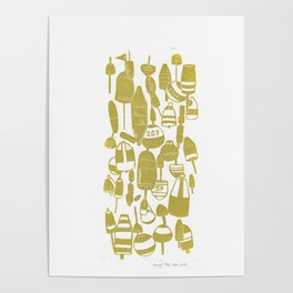 Gold Buoys Poster