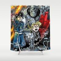 fullmetal alchemist Shower Curtains featuring Fullmetal Alchemist by MarioRojas