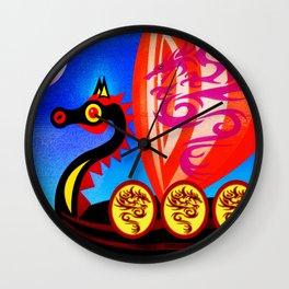 TOWARDS VALHALLA Wall Clock
