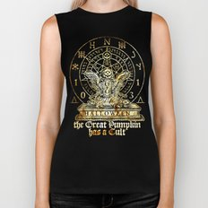 Cult of the Great Pumpkin: Winged Hourglass Biker Tank