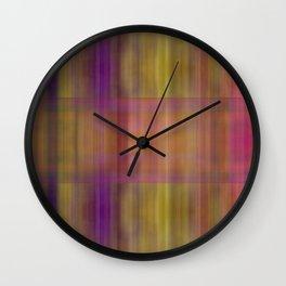 Paddy O's Party Plaid Wall Clock
