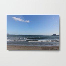 Lucrino Beach under a blue sky Metal Print