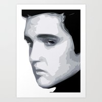 elvis presley Art Prints featuring Elvis Presley by  David Somers