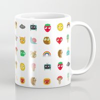 kawaii Mugs featuring Kawaii by heidi kenney