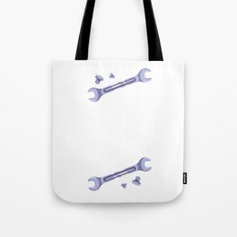 Funny Mechanic Quote - Lefty Loosey Righty Tighty  Tote Bag