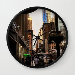33rd Street with Rainbow Wall Clock