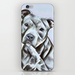 Pit Bull lover, a portrait of a beautiful pit bull puppy iPhone Skin