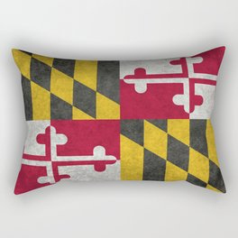 State flag of Flag of Maryland, Vintage retro style Rectangular Pillow