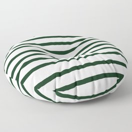 Simply Drawn Stripes in Pine Green Floor Pillow