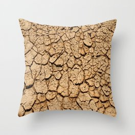 Cracked And Broken Silt Throw Pillow
