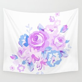 Abstract Flowers Wall Tapestry