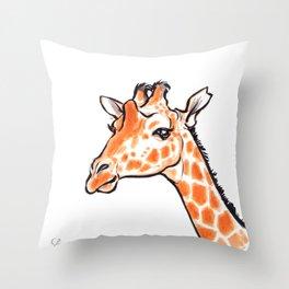 Kipawa the Giraffe Throw Pillow