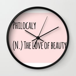 The Love Of Beauty Wall Clock