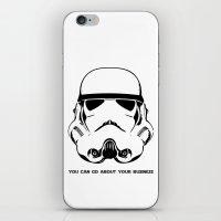 trooper iPhone & iPod Skins featuring Trooper by C Liza B