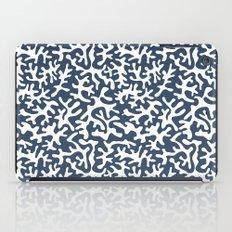 navy coral pattern iPad Case