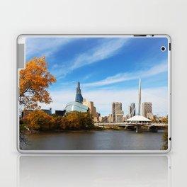 Downtown Winnipeg 2 Picture Panorama Laptop & iPad Skin