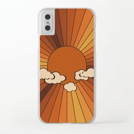 Retro Sunshine Clear iPhone Case