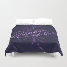 Queer Violets Duvet Cover