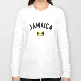 Jamaica Flag World Cup Soccer Jamaican National Flag Pride Jamaican T-Shirts Long Sleeve T-shirt