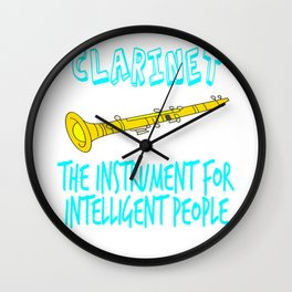 """The Instrument For Intelligent People"" tee design. Perfect for wise and gifted like you!  Wall Clock"