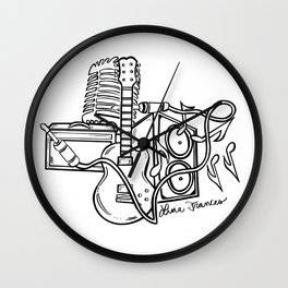 Texas Music (black) Wall Clock