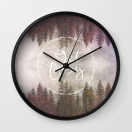 Get Cozy Fall Reflections Wall Clock