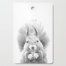 Black and White Squirrel Cutting Board