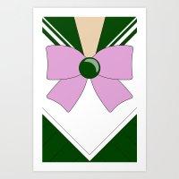 sailor jupiter Art Prints featuring Sailor Jupiter by kscullington | kristina anne