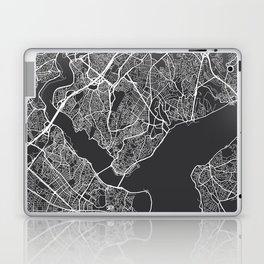 Istanbul Map, Turkey - Gray Laptop & iPad Skin