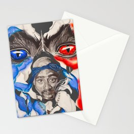 The Cloudy Life Of Makaveli  Stationery Cards