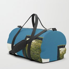 White Square, Green Square, Blue Sky Duffle Bag