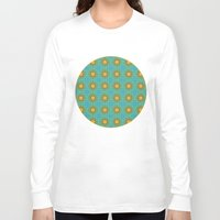 yellow pattern Long Sleeve T-shirts featuring Yellow Salsify Flower Pattern by Peter Gross