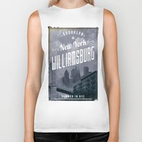 brooklyn Biker Tanks featuring BROOKLYN by Stylegrafico