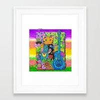 hippy Framed Art Prints featuring Hippy Puss by SwanniePhotoArt