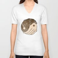 ying yang V-neck T-shirts featuring Ying Yang by Bear Bone