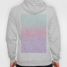Colorful Purple, Pink and Green Watercolor Trendy Glitter Mermaid Pastel Iridescent Hoody