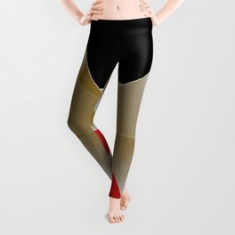 Gift Ribbons / Bronze Gold Ribbon  Black and Red Background  Leggings