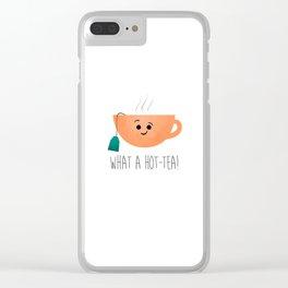 What A Hot-Tea Clear iPhone Case