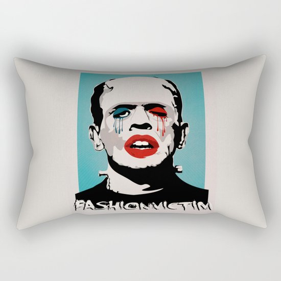 =Boris Karloff=FASHIONVICTIM= Rectangular Pillow