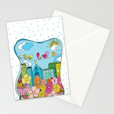 Birds In The City Stationery Cards