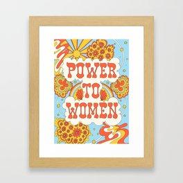 Power to women Framed Art Print