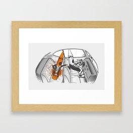 Color-Coded Criminals Framed Art Print