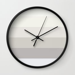Elegant modern simple ivory pastel colors color block pattern Wall Clock