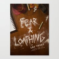 fear and loathing Canvas Prints featuring Fear & Loathing by Madison Bracken