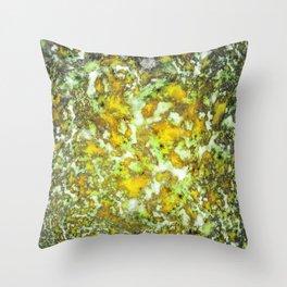 Under the yellow ocean Throw Pillow