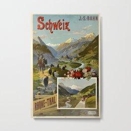 Rhone Thal Vintage Travel Poster Metal Print