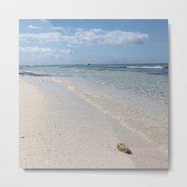 Caribbean Paradise Beach Metal Print